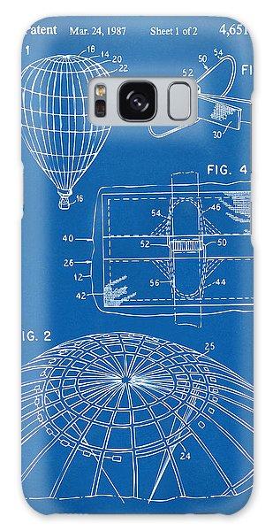 Hot Air Balloons Galaxy Case - 1987 Hot Air Balloon Patent Artwork - Blueprint by Nikki Marie Smith