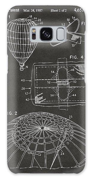 Hot Air Balloons Galaxy Case - 1987 Hot Air Balloon Patent Artwork - Gray by Nikki Marie Smith