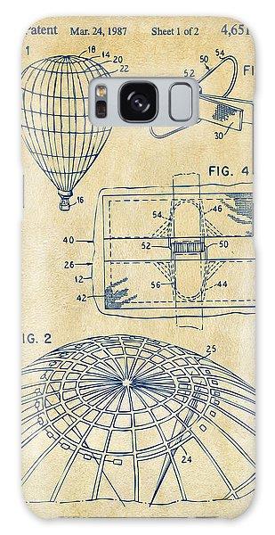 Hot Air Balloons Galaxy Case - 1987 Hot Air Balloon Patent Artwork - Vintage by Nikki Marie Smith