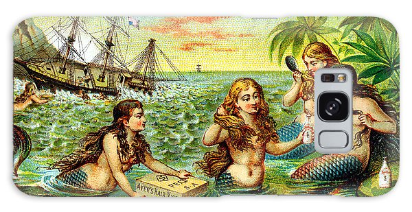19th C. Mermaids At Ship Wreck Galaxy Case