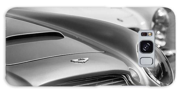 Martin Galaxy Case - 1966 Aston Martin Db6 Hood Emblem -1176bw by Jill Reger