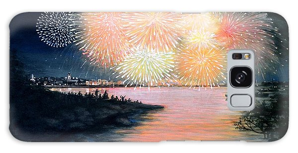 4th Of July Gloucester Harbor Galaxy Case by Eileen Patten Oliver