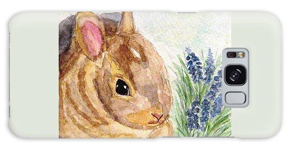 A Baby Bunny Galaxy Case by Angela Davies