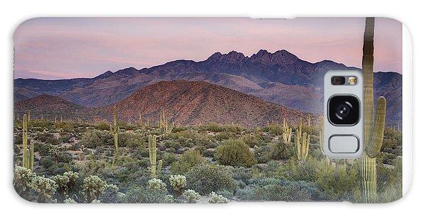 A Desert Sunset  Galaxy Case