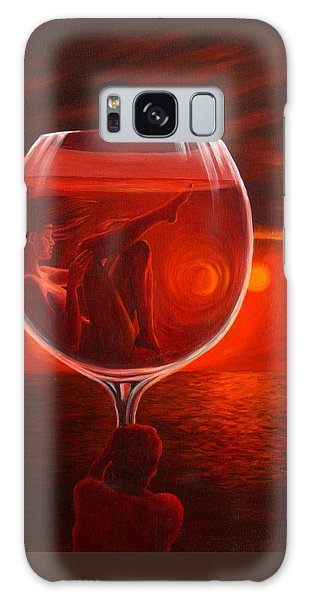 A Toast To Love And Wine Galaxy Case