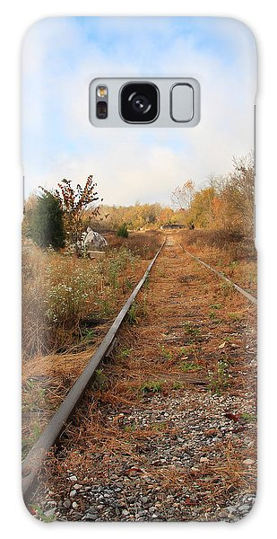 Abandoned Tracks Galaxy Case by Melinda Fawver