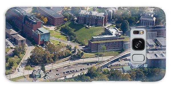 aerials of WVVU campus Galaxy Case