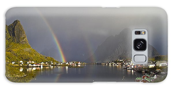 Galaxy Case featuring the photograph After The Rain In Reine by Heiko Koehrer-Wagner