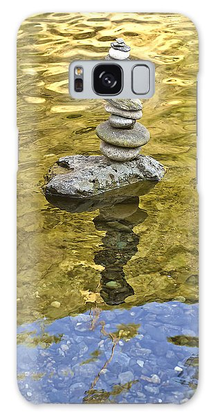Galaxy Case featuring the photograph American River Rock Art by Sherri Meyer