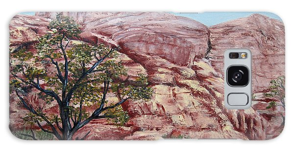 Among The Red Rocks Galaxy Case by Roseann Gilmore