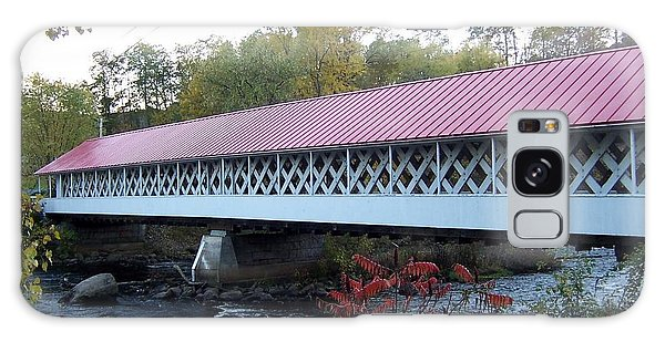 Ashuelot Covered Bridge Galaxy Case by Catherine Gagne