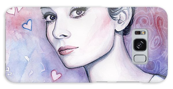 Actors Galaxy S8 Case - Audrey Hepburn Fashion Watercolor by Olga Shvartsur