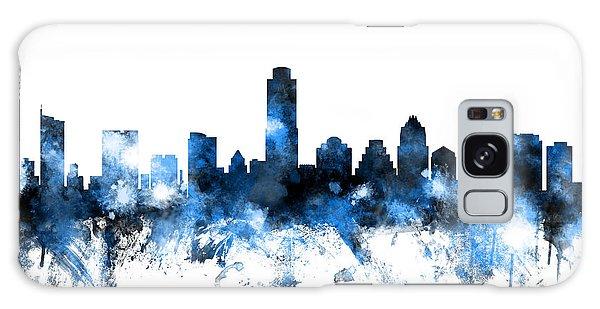 Austin Texas Skyline Galaxy Case by Michael Tompsett