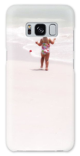 Baby Chases Red Ball Galaxy Case by Valerie Reeves