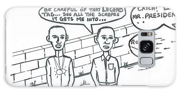 Barack Obama And Usain Bolt Cartoon Galaxy Case