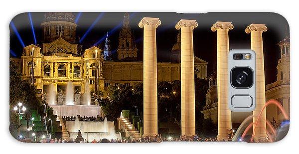 Barcelona By Night Galaxy Case