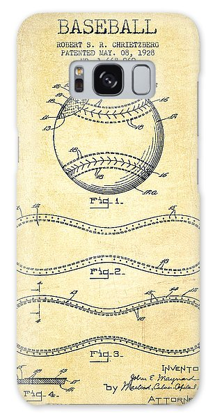Baseball Patent Drawing From 1928 Galaxy Case by Aged Pixel