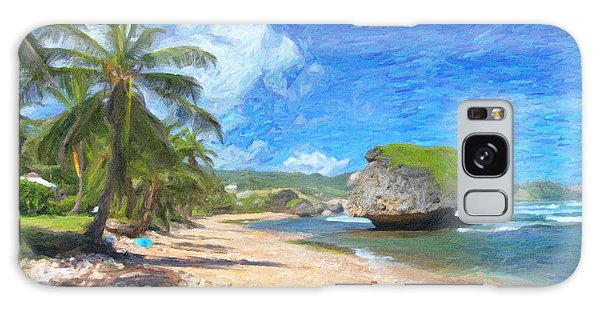 Bathsheba Beach In Barbados Galaxy Case by Verena Matthew