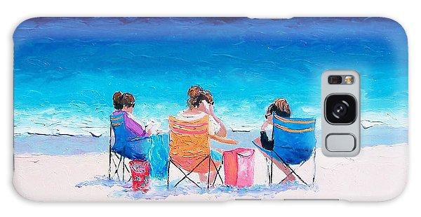 Beach Painting 'girl Friends' By Jan Matson Galaxy Case