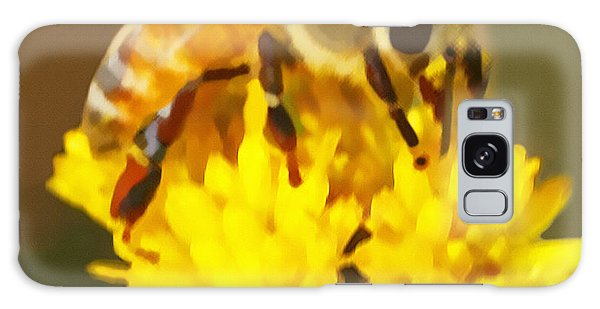 Bee On A Yellow Flower Galaxy Case