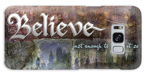 Believe Galaxy Case by Evie Cook