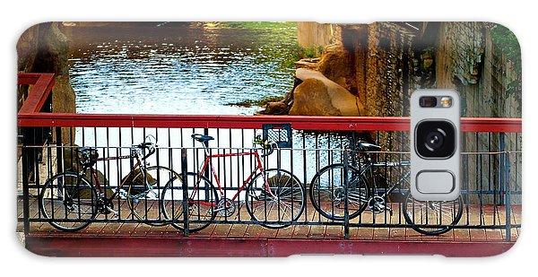 Bikes Over Waller Creek In Austin Galaxy Case
