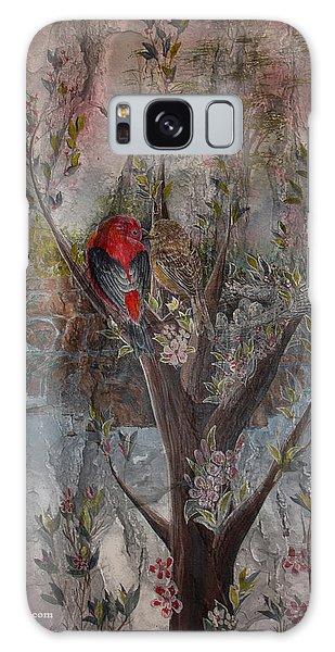 Song Birds Galaxy Case - Birds Couple by Sam Lea