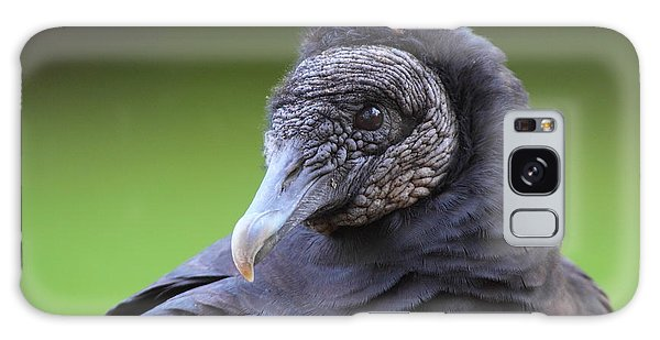 Black Vulture Portrait Galaxy Case