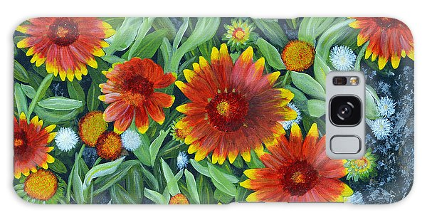Blanket Flowers Galaxy Case by Donna  Manaraze