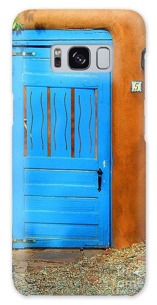 Blue Door In Santa Fe Galaxy Case