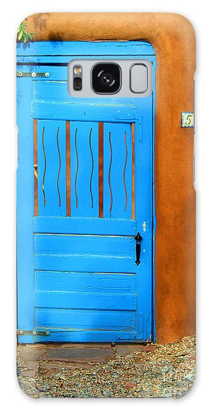 Blue Door In Santa Fe Galaxy Case