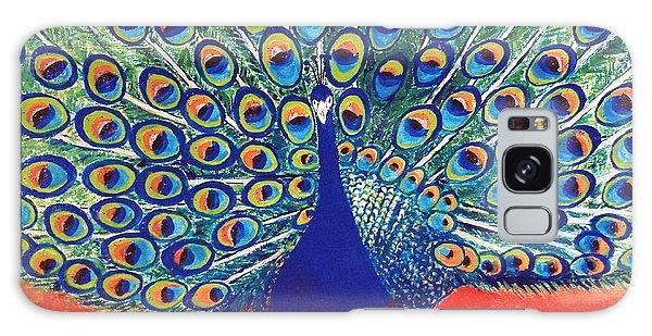 Blue Peacock Galaxy Case