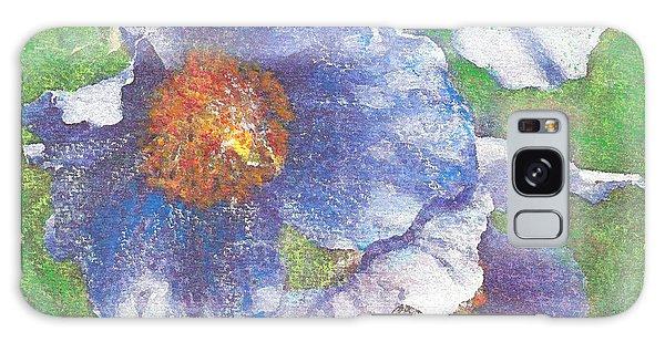 Blue Poppies Galaxy Case