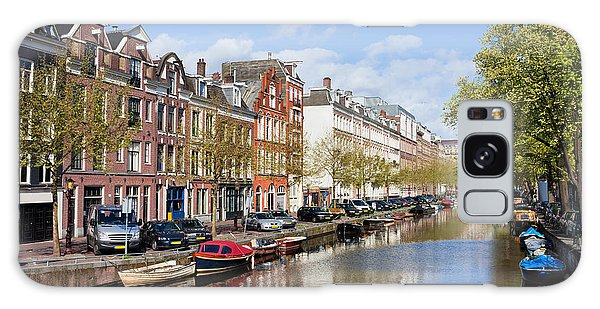Boats On Amsterdam Canal Galaxy Case