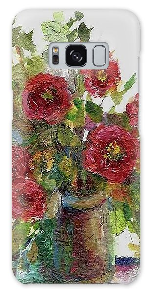 Bouquet Of Poppies Galaxy Case