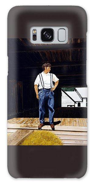 Boy In The Barn Galaxy Case by Ron Haist