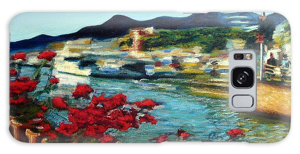 Cabo Marina With Flowers Galaxy Case by Gerhardt Isringhaus