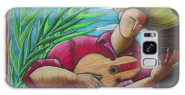Galaxy Case featuring the painting Cancion Para Mi Tierra by Oscar Ortiz