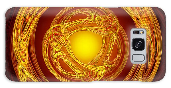 Celtic Abstract On Red Galaxy Case by Jane McIlroy