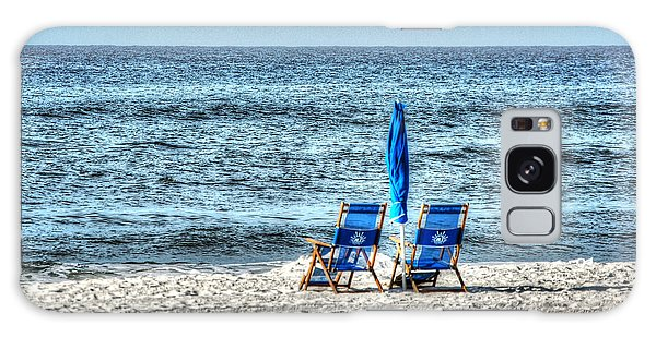 2 Chairs And Umbrella Galaxy Case by Michael Thomas
