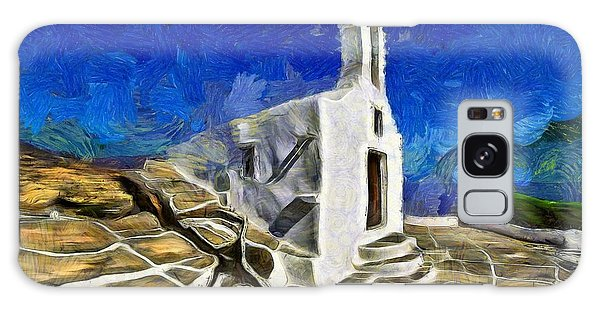 Chapel In Ios Island Galaxy Case