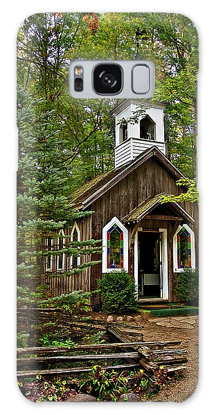 Chapel In The Woods Galaxy Case by Judy  Johnson