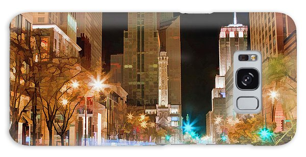 Galaxy Case featuring the painting Chicago Michigan Avenue Light Streak by Christopher Arndt