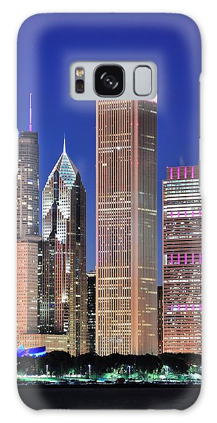 Chicago Skyline At Dusk Galaxy Case