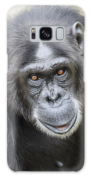 Chimpanzee Portrait Ol Pejeta Galaxy Case