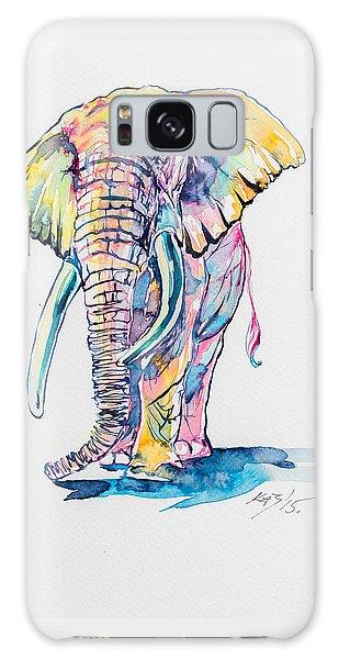 Colorful Elephant Galaxy Case by Kovacs Anna Brigitta