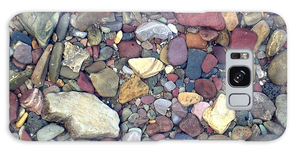 Colorful Lake Rocks Galaxy Case by Kerri Mortenson