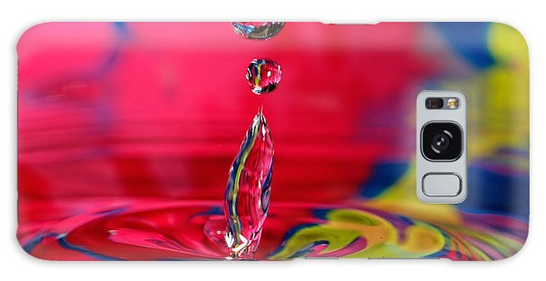 Colorful Water Drop Galaxy Case by Peter Lakomy