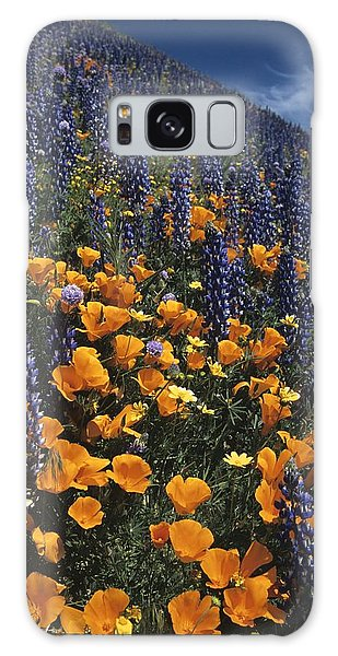Colossal California Wildflowers Galaxy Case