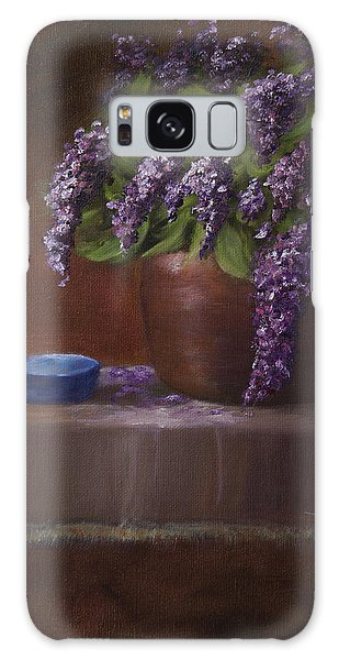 Copper Vase And Lilacs Galaxy Case
